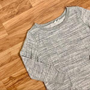 GAP Maternity Zip-Side Tunic Sweatshirt - Gray